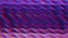 Animación ondulada de la pendiente en colores púrpuras y rosados con efecto del anáglifo animación Movimiento digital de las onda libre illustration