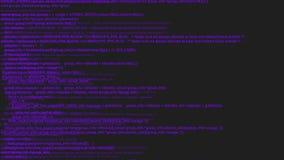 Animación púrpura del concepto del pirata informático de la codificación de la pantalla con interferencia Error de mecanografía p libre illustration