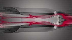 Animación peligrosa con el objeto de la onda en el movimiento, lazo HD 1080p ilustración del vector