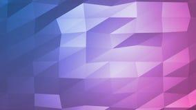 Animación poligonal abstracta del fondo ilustración del vector