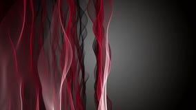 Animación potente con el objeto de la onda en la cámara lenta, 4096x2304 lazo 4K stock de ilustración