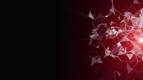 Animación potente con los objetos del triángulo y luz del centelleo en la cámara lenta, 4096x2304 lazo 4K libre illustration