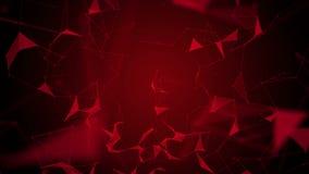 Animación potente con los triángulos que brillan intensamente en la cámara lenta, 4096x2304 lazo 4K stock de ilustración