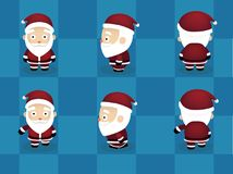 Animación principal grande Santa Walking Cute Vector de la historieta ilustración del vector