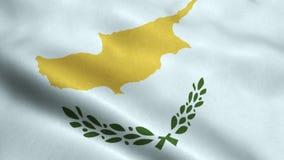 Animación que agita de colocación inconsútil de la bandera de Chipre libre illustration