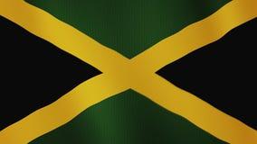Animación que agita de la bandera de Jamaica De plena pantalla Símbolo del país stock de ilustración