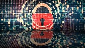 Animación que representa el concepto de seguridad cibernética libre illustration