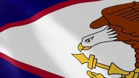 Animación realista de la bandera de American Samoa stock de ilustración