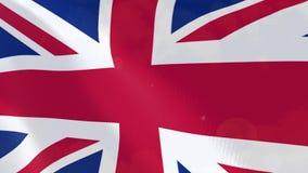 Animación realista de la bandera de Reino Unido stock de ilustración