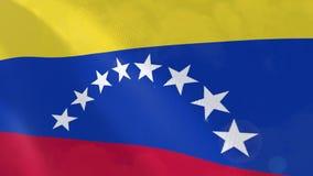 Animación realista de la bandera de Venezuela libre illustration
