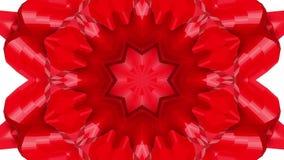 Animación rojo-anaranjada del caleidoscopio de la abstracción 3d rinden stock de ilustración