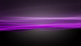 Animación romántica con el objeto de la onda de la partícula en la cámara lenta, 4096x2304 lazo 4K ilustración del vector