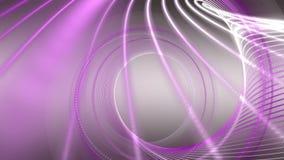 Animación romántica con el objeto de la raya de la partícula en la cámara lenta, 4096x2304 lazo 4K ilustración del vector