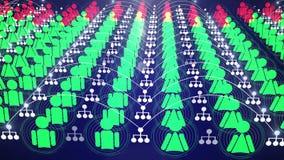 Animación social 4K de la conexión de red libre illustration