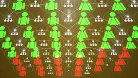 Animación social 4K de la conexión de red stock de ilustración