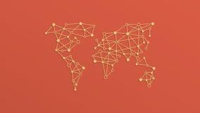 Animación social moderna del concepto de la luz de la red de la cantidad ilustración del vector