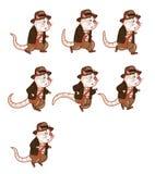 Animación Sprite de la rata del aventurero Foto de archivo