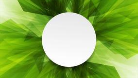 Animación verde clara abstracta del vídeo de las formas