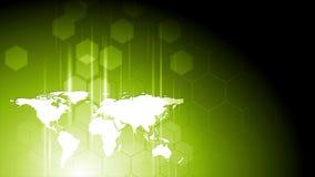 Animación verde clara del vídeo de la tecnología