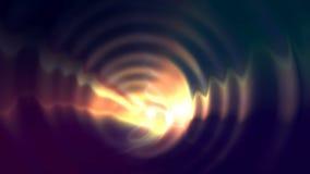 Animación vibrante brillante del lazo de las ondas almacen de metraje de vídeo