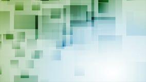 Animación video abstracta de la tecnología con los cuadrados