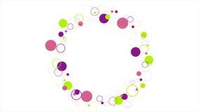 Animación video abstracta de los círculos retros coloridos