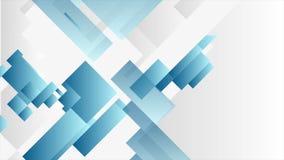 Animación video abstracta geométrica de la tecnología azul y gris