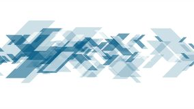 Animación video azul del extracto de la tecnología del concepto