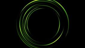 Animación video cargada verde clara de los círculos que espera libre illustration
