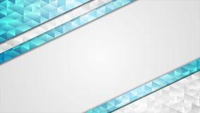 Animación video corporativa azul polivinílica baja abstracta