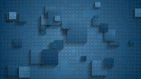 Animación video a cuadros geométrica azul con los cuadrados