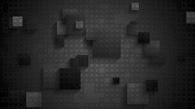 Animación video a cuadros geométrica negra con los cuadrados