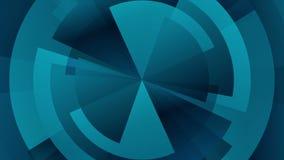 Animación video de la tecnología del diagrama azul marino del engranaje libre illustration