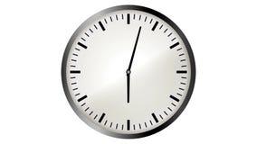 Animación video de Loopable del timelapse del reloj almacen de video