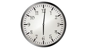 Animación video de Loopable del timelapse del reloj ilustración del vector