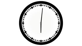 Animación video de Loopable del timelapse del reloj libre illustration