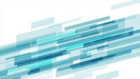 Animación video futurista de la tecnología abstracta azul