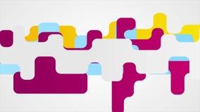 Animación video geométrica colorida mínima abstracta