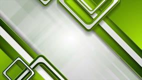 Animación video geométrica de la tecnología abstracta verde clara metrajes