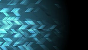Animación video geométrica de la tecnología azul marino