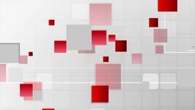 Animación video gris roja de la tecnología futurista abstracta
