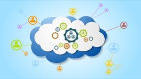 Animación video infographic de la comunicación social abstracta