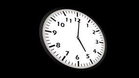 animación video loopable de 4K UltraHD del timelapse del reloj stock de ilustración