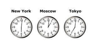 animación video loopable 4K del tiempo en diversa ciudad tres Timelapse ilustración del vector