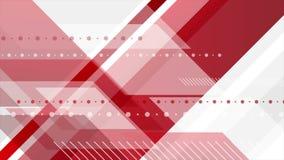 Animación video mínima de la tecnología abstracta gris roja