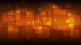 Animación video que brilla intensamente de los cuadrados geométricos anaranjado oscuro