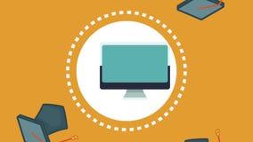 Animación virtual del concepto HD de la educación stock de ilustración