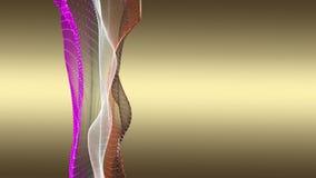 Animaci?n fant?stica con el objeto de la onda de la part?cula en la c?mara lenta, 4096x2304 lazo 4K stock de ilustración