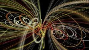 Animaci?n fant?stica con el objeto de la raya en la c?mara lenta, 4096x2304 lazo 4K ilustración del vector