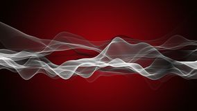 Animaci?n potente con el objeto de la onda de la part?cula en la c?mara lenta, 4096x2304 lazo 4K libre illustration